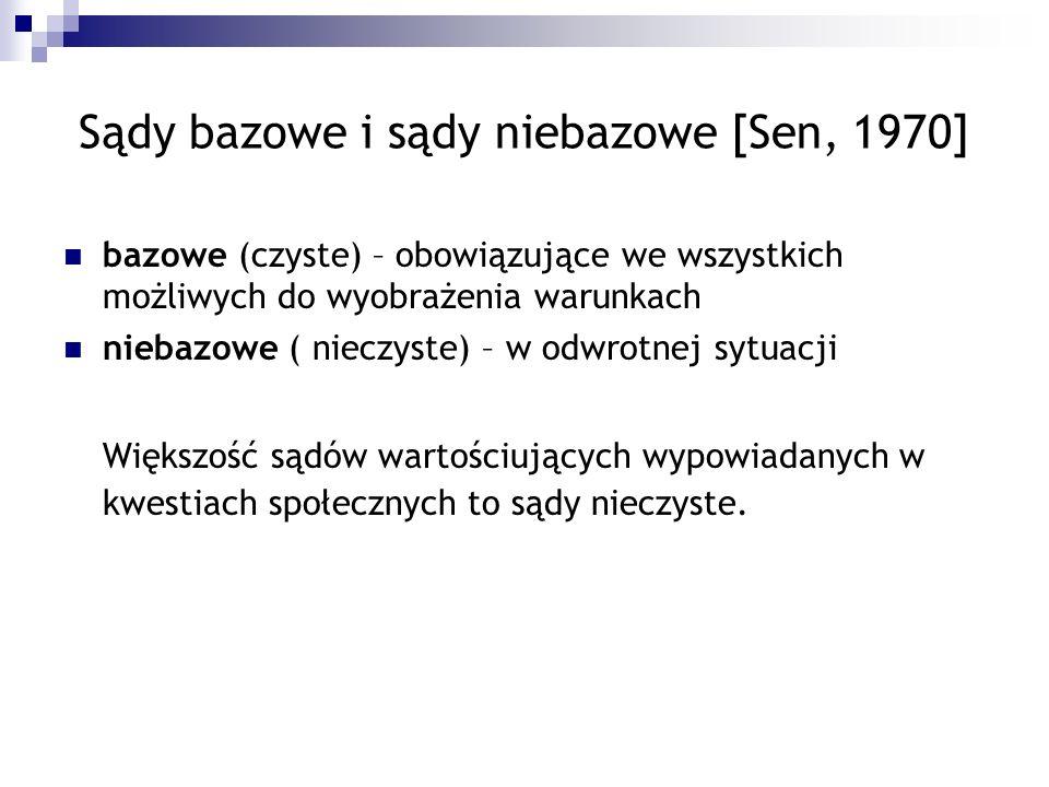Sądy bazowe i sądy niebazowe [Sen, 1970]